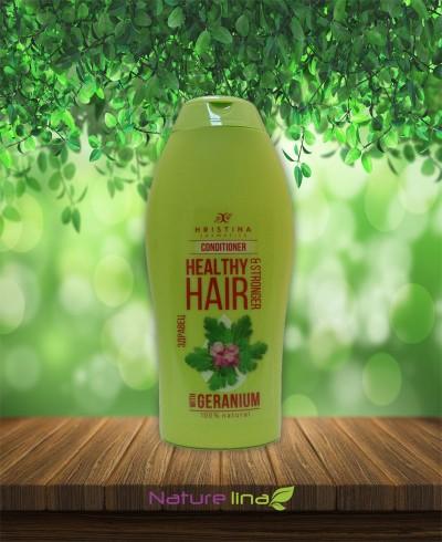 Балсам за коса с екстракт от здравец за здравина