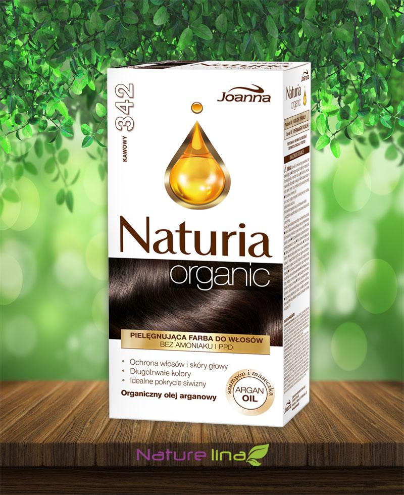 Безамонячна боя за коса Naturia Organic - 342 Кафе