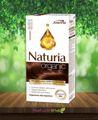 Безамонячна боя за коса Naturia Organic - 321 Кестен
