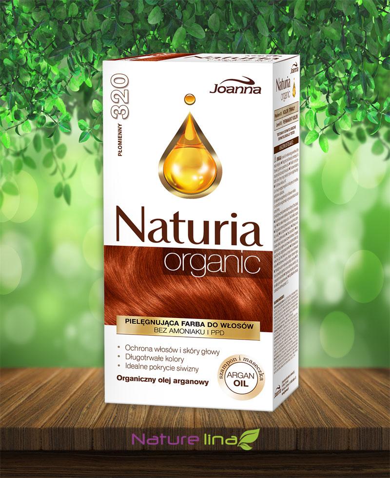Безамонячна боя за коса Naturia Organic - 320 Огнено червено