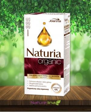 Безамонячна боя за коса Naturia Organic - 332 Вишна