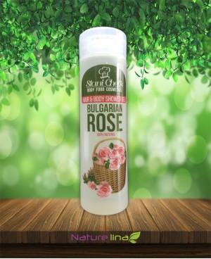 Душ гел за коса и тяло Бяла роза