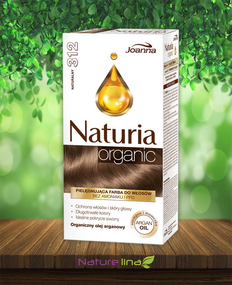 Безамонячна боя за коса Naturia Organic - 312 Натурално русо