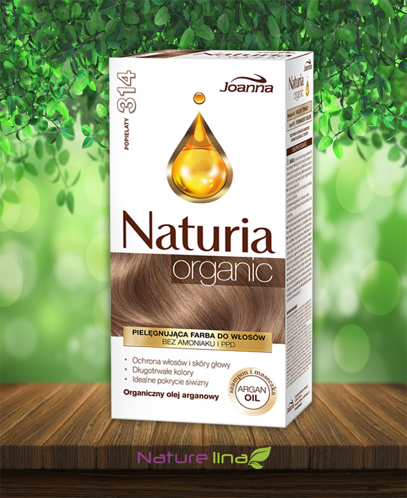 Безамонячна боя за коса Naturia Organic - 314 Пепеляво сиво