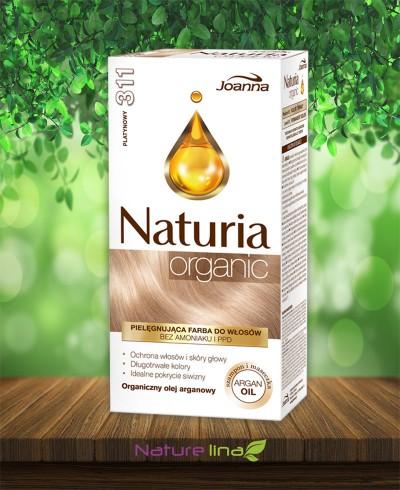 Безамонячна боя за коса Naturia Organic - 311 Платинено русо