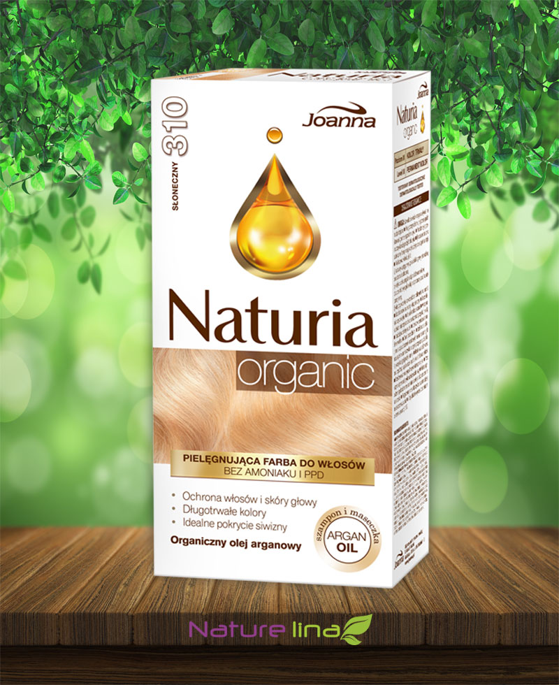 Безамонячна боя за коса Naturia Organic - 310 Слънчево русо