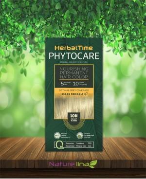 Подхранваща трайна боя за коса Herbal Time Phytocare - 10N Ярко Рус