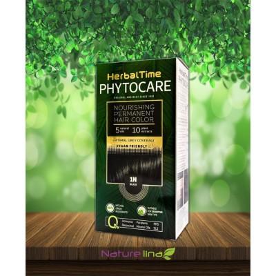 Подхранваща трайна боя за коса Herbal Time Phytocare - 1N Черен