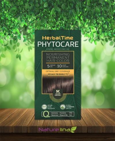 Подхранваща трайна боя за коса Herbal Time Phytocare - 5C Златист кестен