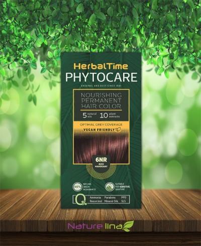 Подхранваща трайна боя за коса Herbal Time Phytocare - 6NR Наситен махагон