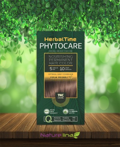 Подхранваща трайна боя за коса Herbal Time Phytocare - 7NC Карамел
