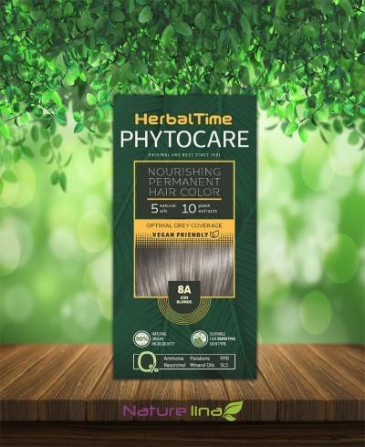 Подхранваща трайна боя за коса Herbal Time Phytocare - 8A Пепелно рус