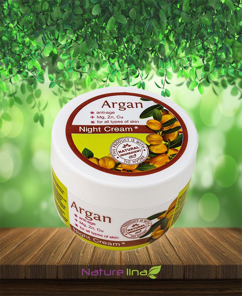 Подхранващ  Нощен крем против бръчки с масло  от Арган и Минерали