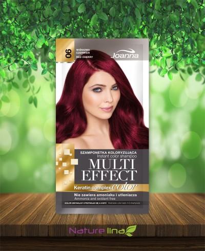 Шампоан оцветител Multi Effect 06 - вишнево червено