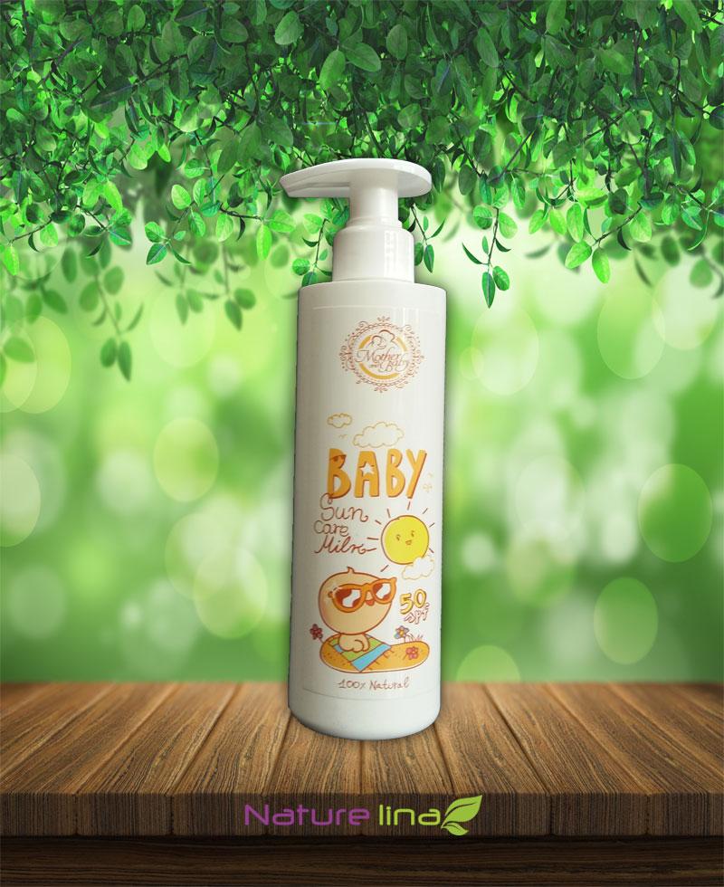 Слънцезащитно мляко за бебета и малки деца SPF50