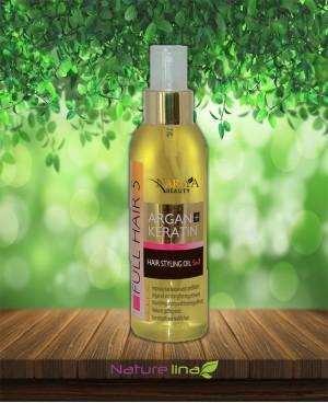 Стилизиращо олио за коса с Арган и Кератин 5 в 1