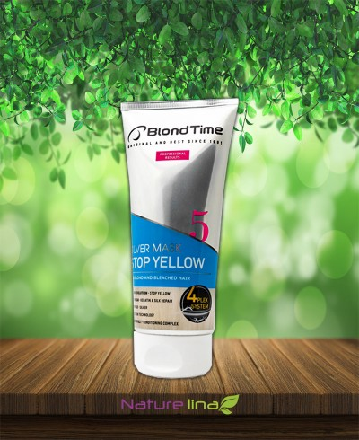 Оцветяваща Сребърна Маска за коса Стоп Жълто Blond Time